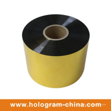 Gold Aluminium Präge Tamper Proof Pet Foil