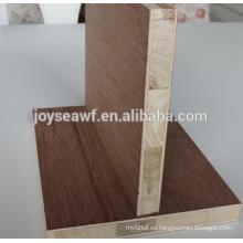 Melamina blockboard / mejor precio de blockboard / tablero de madera chapada