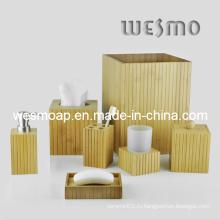 Экологичный бамбуковый набор для ванной / Аксессуары для ванной комнаты / Аксессуары для ванной комнаты
