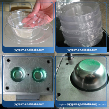 Supply customized disposable plastic tableware/aviation crystal Four-piece sets mold processing plastic injection mould spoon mould,plastic spoon mould maker in china