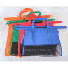 supermarket shopping storage reusable grocery cart bags