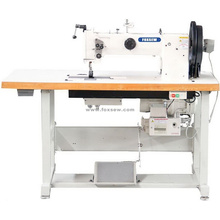 Швейная машина с двойной иглой и тройной подачей шагающей лапки для кожаной обивки и лямок