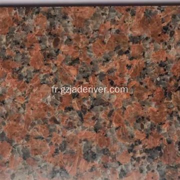 Dalles de granit multicolores tuiles rouges