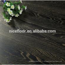 Plancher en bois à trois étages OAK GOLD BLACK DISTRESSED TEXTURE