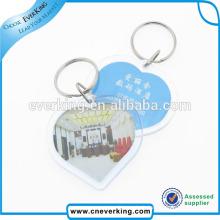 Keychain en plastique qui respecte l'environnement adapté aux besoins du client pour la décoration