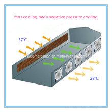 Sistema completo do refrigerador de ar do equipamento das aves domésticas do conjunto completo
