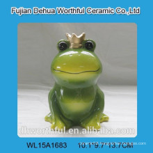 Female frog money box with imperial crown