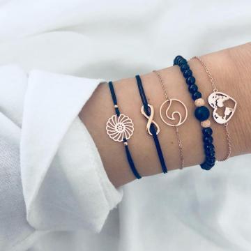 Bracelet en cuir tribal d'amitié pour les hommes - Corde en chanvre avec perle en bois, bracelet en chanvre Boho, meilleur cadeau