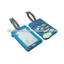 customized soft PVC rubber luggage tag