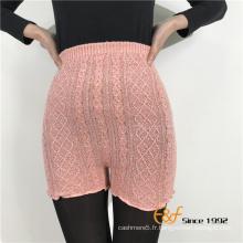 câble tricoté leggings courts minces colorés