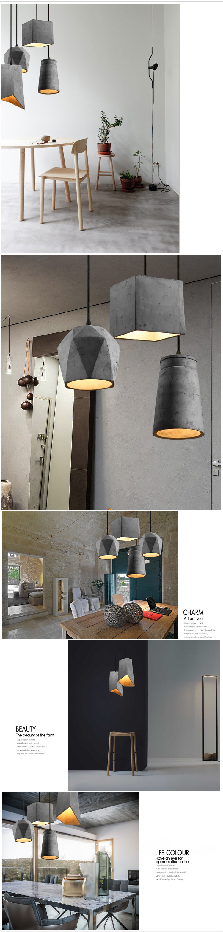 Application Small Pendent Lights