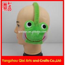 Plush earmuff animal toy frog monkey for children