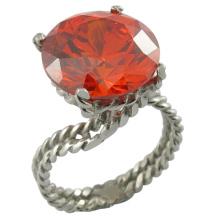 Moda artificial dedos anel de imitação de aço inoxidável