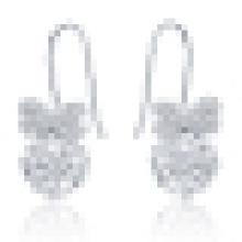 Women′s Fashion Butterfly Crystal Earrings