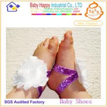 Heiße verkaufenblumenspitzebaby-Schuhverzierung