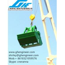 marine crane usage clamshell hydraulic grab
