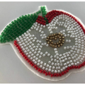 Desain Patch Applique Apple Beaded