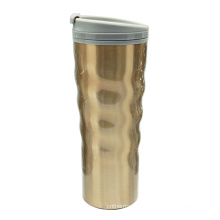 Curvada de acero inoxidable doble pared taza de café 16oz de oro desierto
