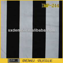 100 % Baumwolle schwarz weiß gestreiften Canvas Stoff