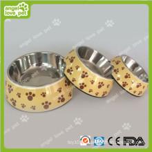 Klassische Fußabdruck-Muster Plastikhaustier-Hundeschüssel