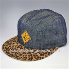 Imprimé léopard de mode 5 chapeau de panneau