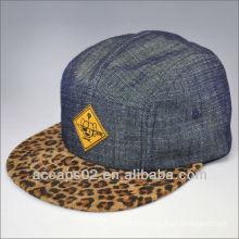 fashion leopard print 5 panel hat