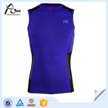 Kundenspezifische Mens Sublimierte Dry Fit Training Singlet Fitness Tragen