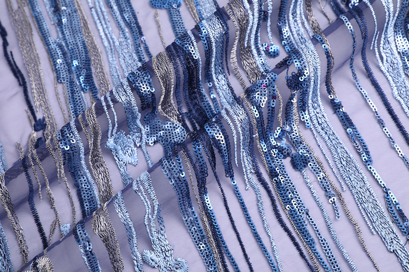 3mm Paillette Embroidery Fabric