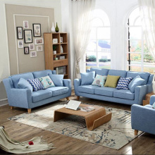 Fabric Cushion Sleeper Lounge Sectional Sofa Set
