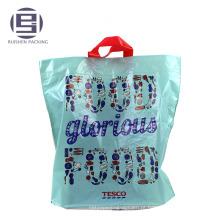 Impressão azul top vendendo alça de loop para fazer compras