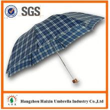 Neueste Fabrik Großhandel Sonnenschirm Print Logo nach Maß 3 Falten-Regenschirm