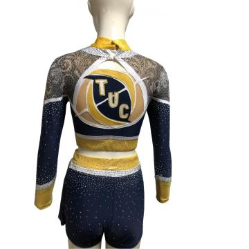 Spakle Mesh Stoff Little Girls Cheer Uniformen