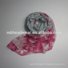 Écharpe multicolore en polyester 100