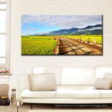Imagen moderna del cuadro de la pared del hogar del paisaje