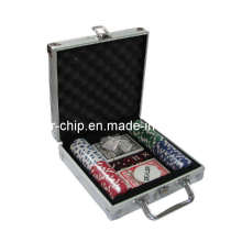 100PCS Poker Chip Set in Square Corner Aluminum Case (SY-S08)