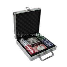 Чип 100PCS Poker установлен в квадратном алюминиевом корпусе (SY-S08)