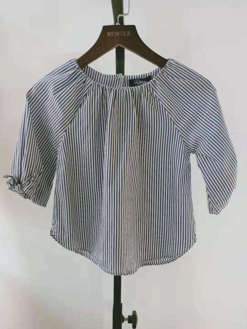 cotton yarn dyed grils blouse