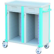 Hospital Medical Mobile Patient Record ABS Chart Holder Case History Cart Trolley/Cart