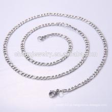 Alta qualidade Jóias fantasia longa cadeia de aço inoxidável colar BSL002