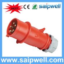 SAIP IP44 промышленные 5-контактный штекер электрические фитинги выключатели и розетка SP3