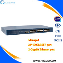 Гигабитный управляемый 24 портовый коммутатор Ethernet