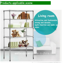 DIY Heavy Duty Chrome Adjustable Book Storage Shelf (CJ12045180A5C)