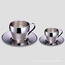 Elegant Stainless Steel Coffee Cup 60c. C., 180c. C.