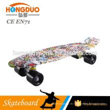22 Zoll PP Chrom goldene Farbe Kunststoff Skateboard