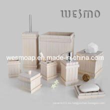 Producto de baño de bambú blanco del baño del sistema (WBB0608B)