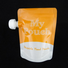 Microwave Safe Reusable Stand up Spout Pouch with Zipper for Baby Food (MS-SB023)
