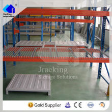 Jracking support bar for pallet racks