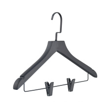 Factory direct customized clothes black wooden hangers for boutique