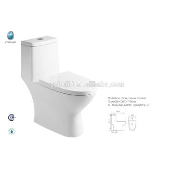 CB-9518 china baño al por mayor diseño de cerámica CUPC siphonic rubor baño tazón de inodoro conjunto