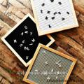 10'' x 10'' Black Felt Letter Boards with 290 Letters, Changeable Letter Board Oak Wood Frame 10'' x 10'' Black Felt Letter Boards with 290 Letters, Changeable Letter Board Oak Wood Frame